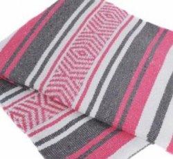 406 Yoga Blanket (Pink/Gray/White)