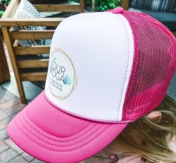 Our Yoga Pink YOUTH Trucker Hat