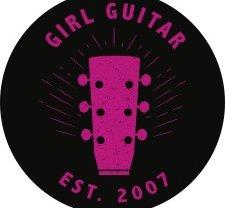 Girl Guitar Signature Sticker (Black / Pink)