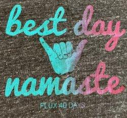 Tank - Womens - Best Day Namaste (Grey)