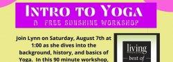 Intro to Yoga, A Free Sunshine Workshop