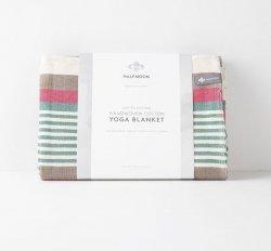 Beach Stripe Cotton Yoga Blanket