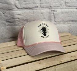 Girl Guitar Trucker Hat (Pink)