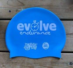 Evolve Endurance Silicone Swim Cap - Blue