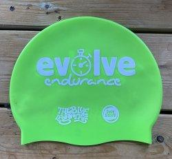 Evolve Endurance Silicone Swim Cap - Green