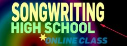 Songwriting  ˚for High Schoolers  [Zoom Class]