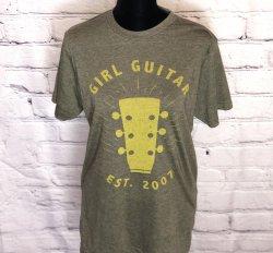 Girl Guitar Crewneck Tee (Green / Yellow)