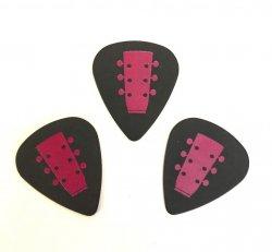 Girl Guitar Signature Picks (Black / Pink)