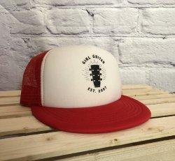 Girl Guitar Trucker Hat (Red)