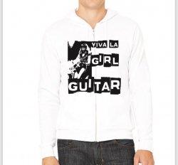 Viva La Girl Guitar Hoodie (White)