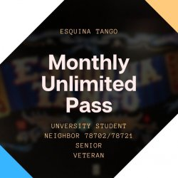 Monthly Unlimited Pass for College Students/Neighbors/Senior Citizens/Veterans