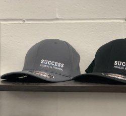 Success Flex Fit Hats - Charcoal